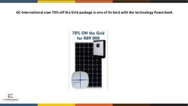 GC-International provides power when load shedding occurs with use of the GC-International Inverter/UPS back up System