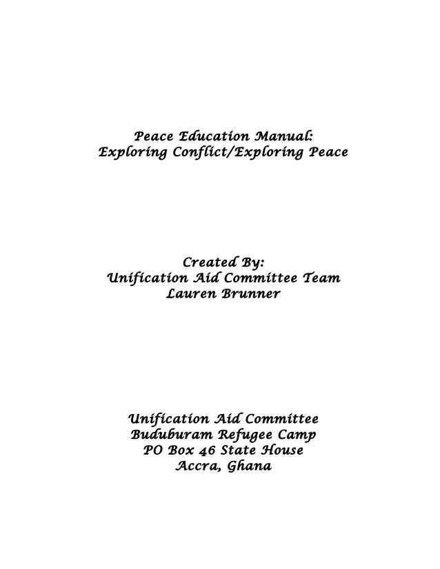 peace education manual