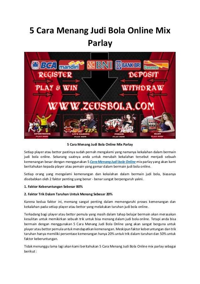 5 Cara Menang Judi Bola Online Mix Parlay