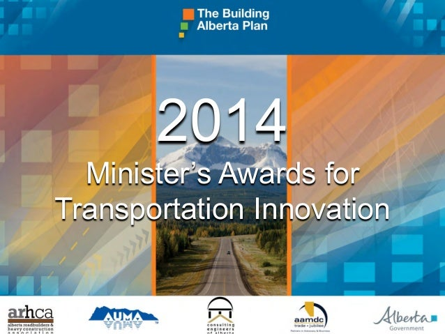 2014 Minister's Awards for Transportation Innovation