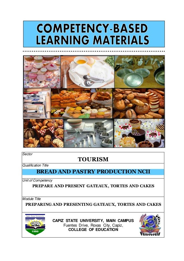 Competency Based Learning Materials , Bread and pastry