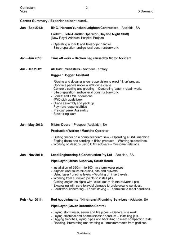 Downard Daryl Resume Jun 2014