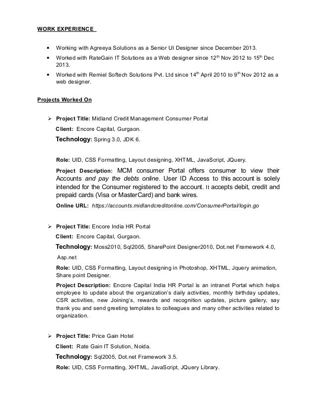 Executive Summary Resume | Cover Letter