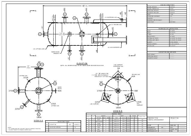 Pressure Vessel General Arrangement