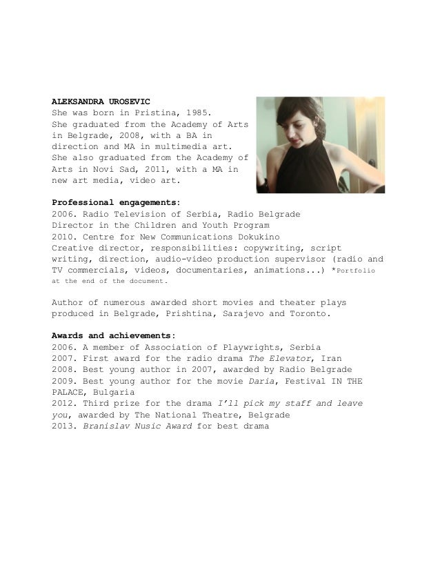 copywriter cv - Fieldstation.co