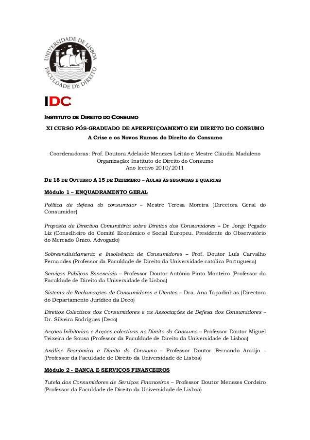 IIIIDDDDCCCC Instituto de Direito do ConsumoInstituto de Direito do ConsumoInstituto de Direito do ConsumoInstituto de Dir...
