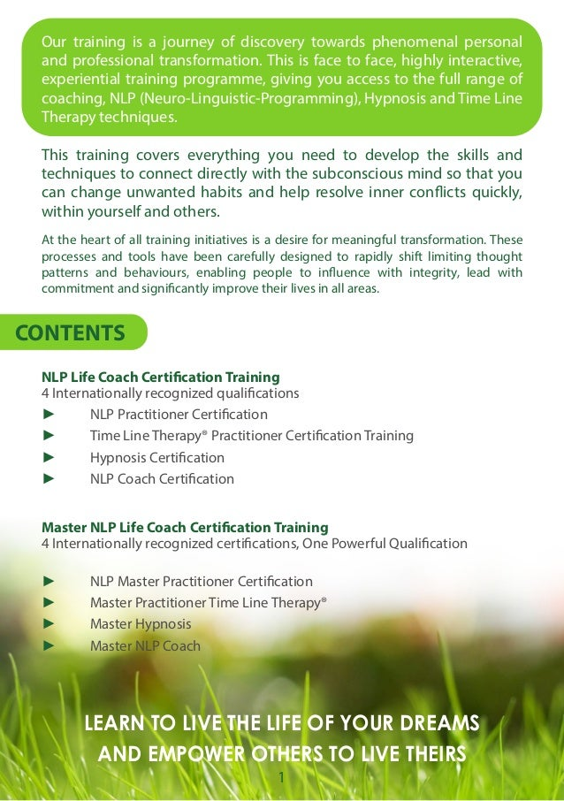 Life Coach Training Brochure