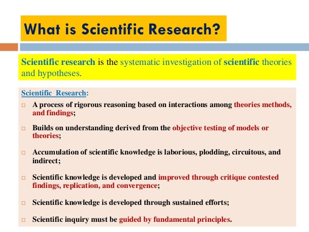 a study of scientific method of research A summary of the scientific method in 's research methods in psychology   specific research method, such as naturalistic observation, a case study, a survey ,.
