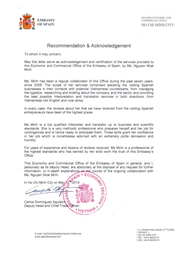 recommendation letter for us visa application