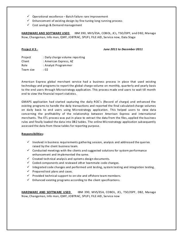 mainframe testing resume sample mainframe resume mainframe