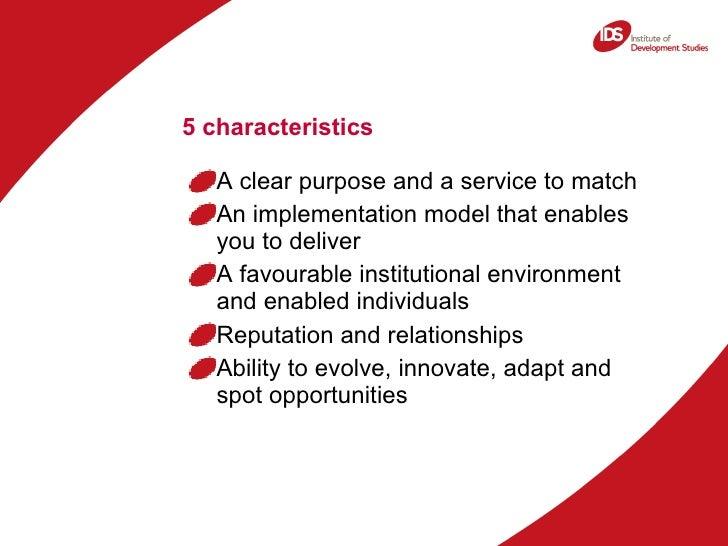 5 Characteristics Of Successful Intermediary Organisations