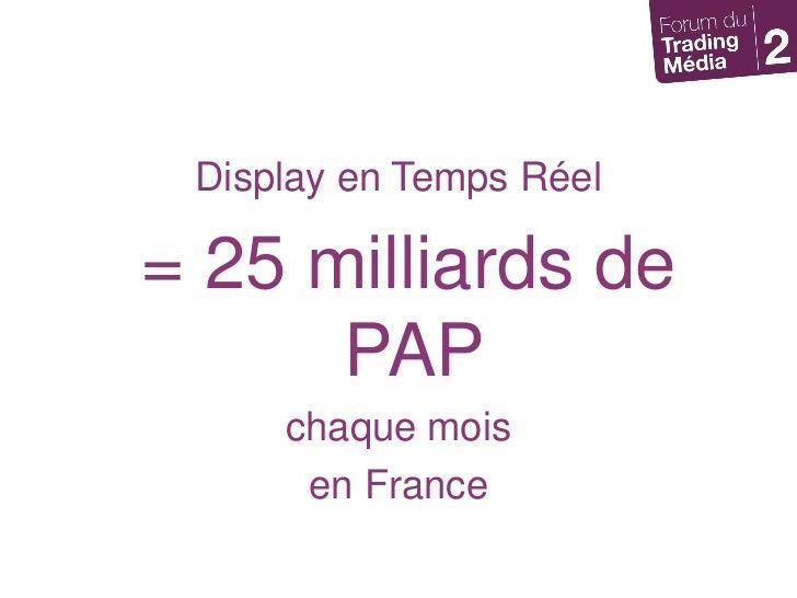 Display en Temps Réel<br /> = 25 milliards de PAP <br />chaque mois <br />en France<br />