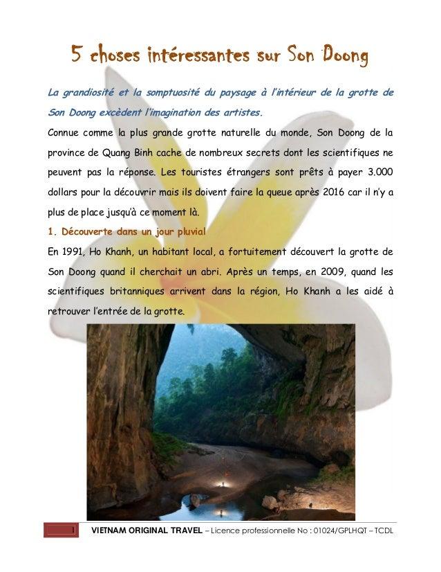 5 choses intéressantes sur Son Doong La grandiosité et la somptuosité du paysage à l'intérieur de la grotte de Son Doong e...