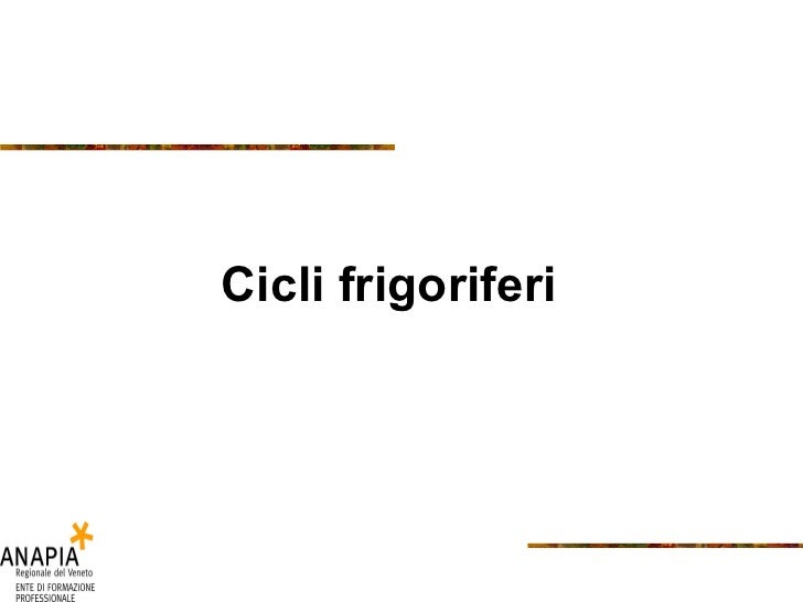 Cicli frigoriferi