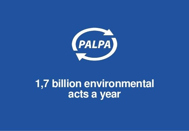 1,7 billion environmental acts a year