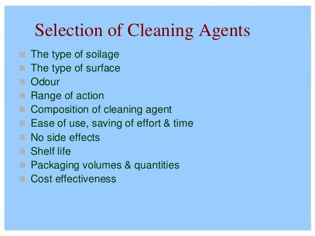 5 Cleaning Agents
