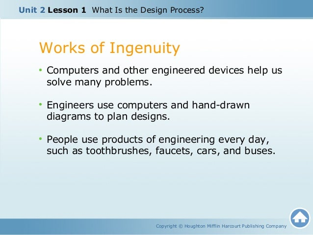 Unit 2 The Engineering Process Lesson 1 What Is The Design Process