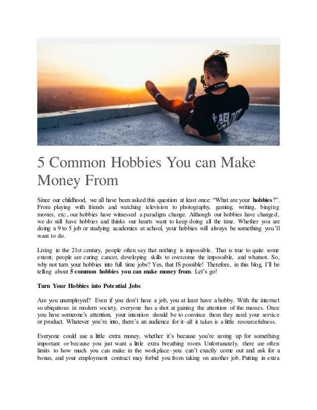 What to say when someone asks about your hobbies