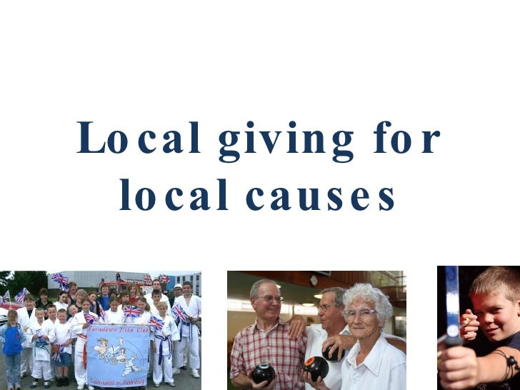 Local giving for local causes