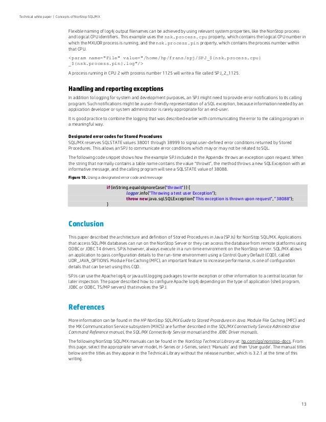 Concepts of NonStop SQL/MX: Part 5 - Stored Procedures