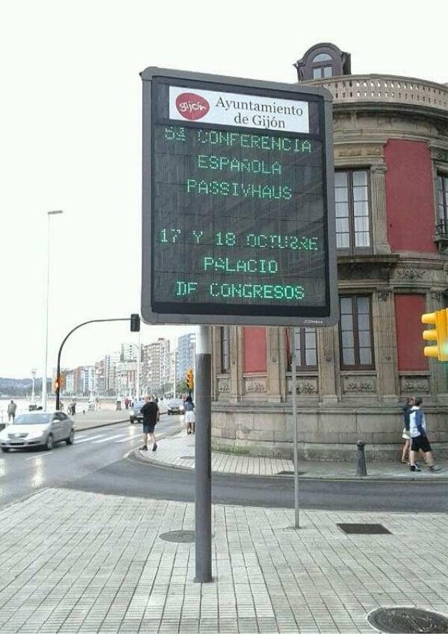 En las calles de Gijón, ya se anuncia la 5ª Conferencia Passivhaus España