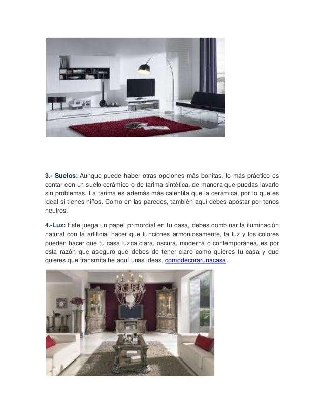 5 consejos para decorar tu casa for Consejos para decorar tu casa
