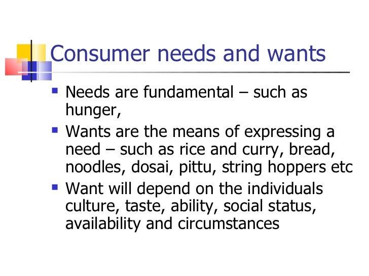 need of consumer behaviour