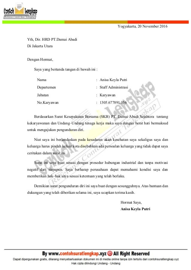 contoh surat pengunduran diri jabatan struktural contoh miri