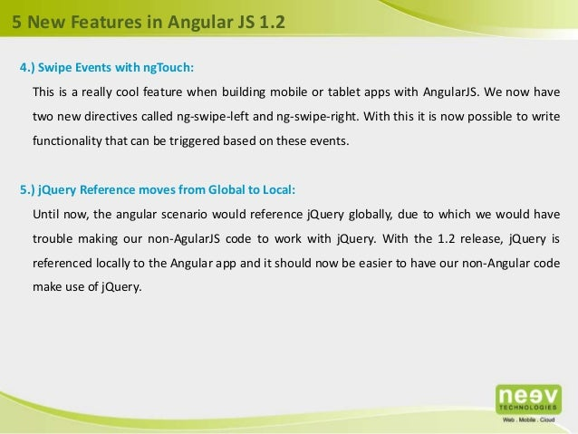 5 cool new features in Angular js 1 2