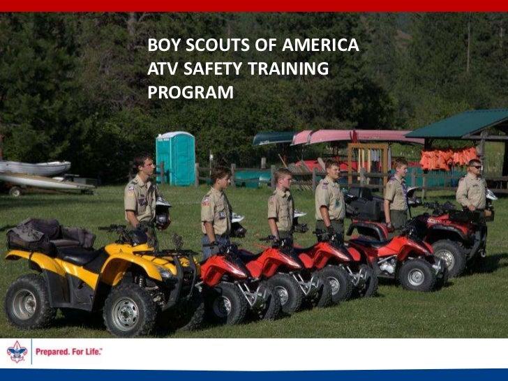 BOY SCOUTS OF AMERICAATV SAFETY TRAININGPROGRAM