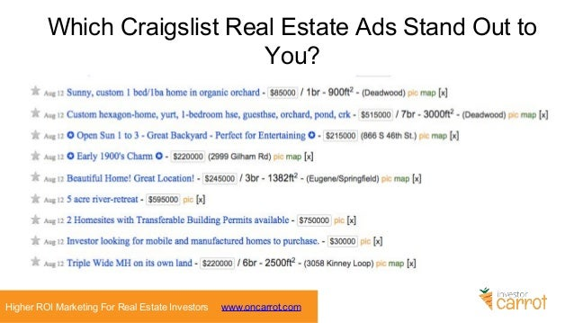 5 Craigslist Marketing Strategies for Real Estate Investors - Generat…