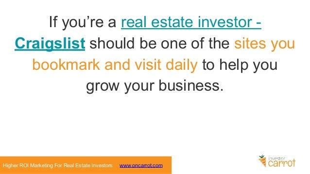 5 Craigslist Marketing Strategies for Real Estate Investors
