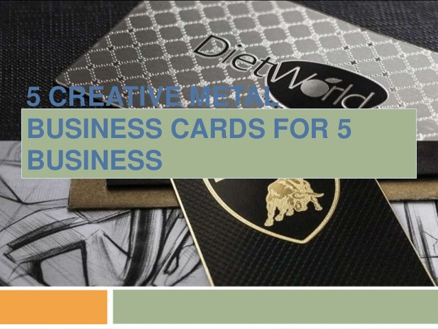 5 creative metal business cards for 5 business reheart Image collections