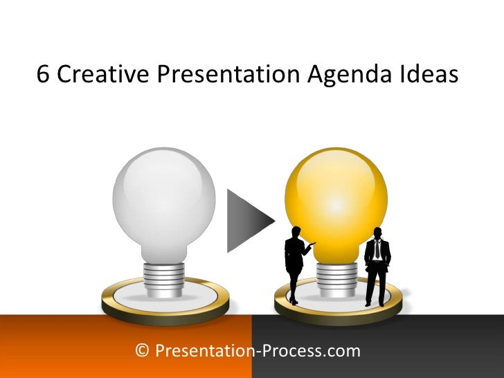 5 Creative Presentation Agenda Ideas