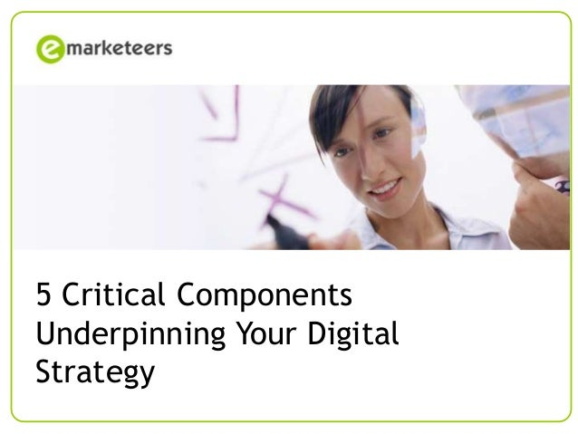 [Course name] Training Course 5 Critical Components  Underpinning For [client] – [date] Your  Digital  Strategy Page 1  © ...