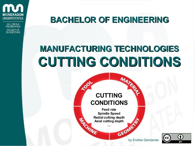 Feed rate Spindle Speed Radial cutting depth Axial cutting depth … CUTTING CONDITIONS BACHELOR OF ENGINEERINGBACHELOR OF E...