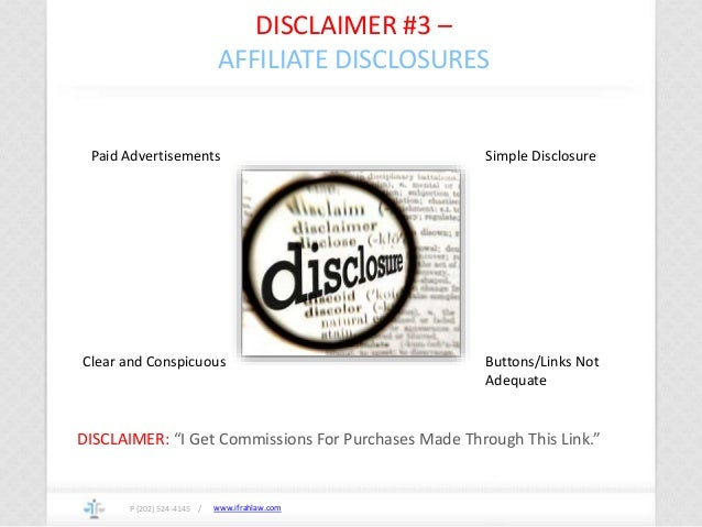 """www.ifrahlaw.com DISCLAIMER #3 – AFFILIATE DISCLOSURES P (202) 524-4145 / DISCLAIMER: """"I Get Commissions For Purchases Mad..."""
