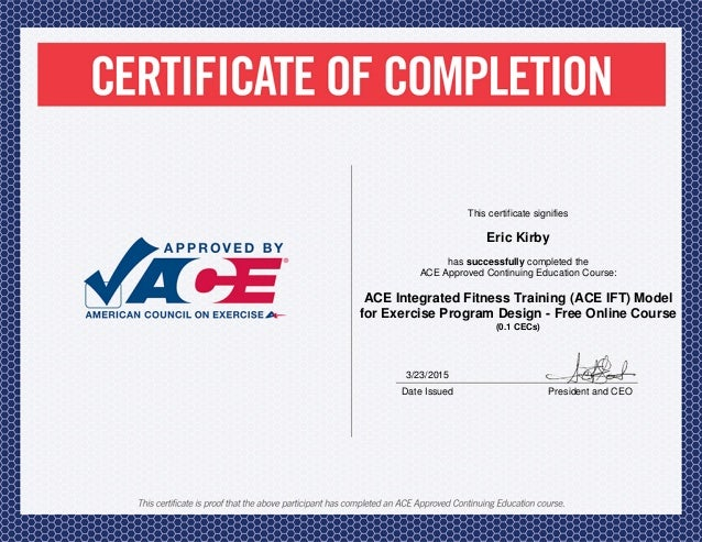 ace ift fitness certification