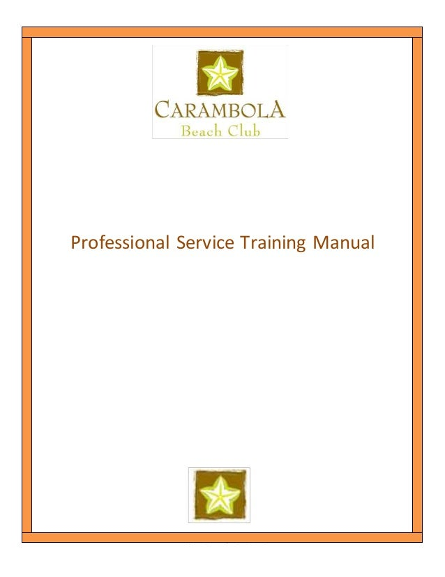 food and beverage service training manual