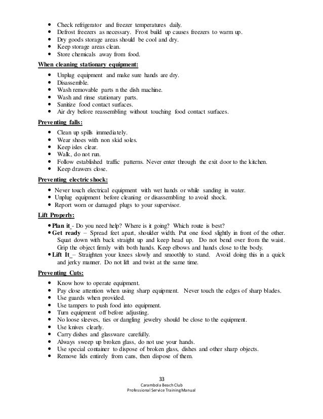 Carambola Professional Service Training Manual