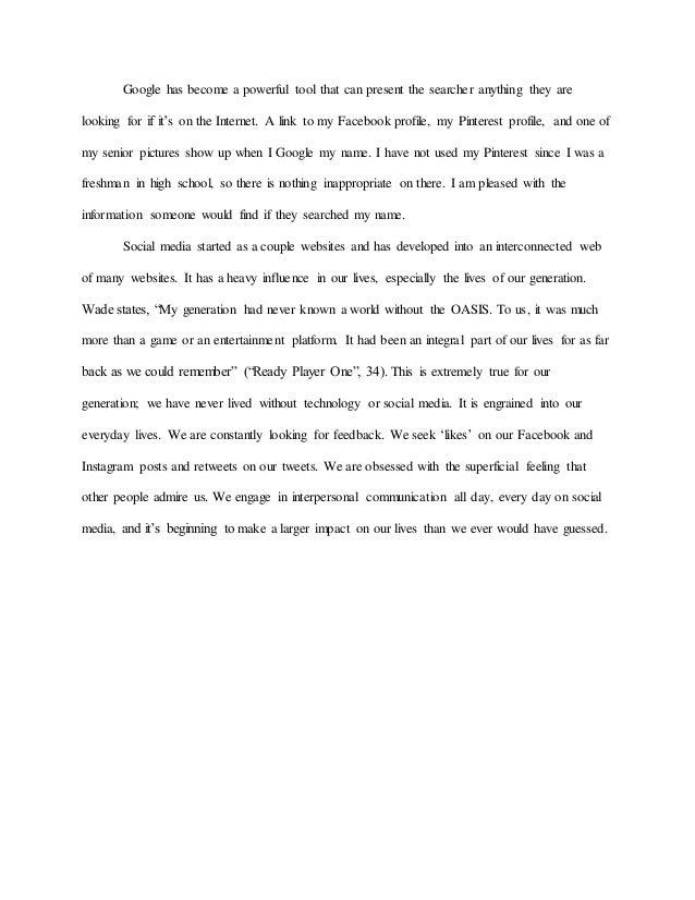 Essays on social media selo l ink co