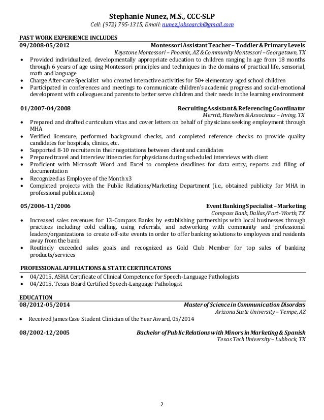 Former Resume Writing Partner For Leading Executive Job Boards And Intended  For Sample Resume For Speech Language Pathologist florais de bach info