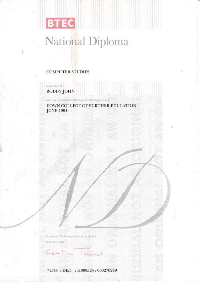 Engineering Higher National Certificate & Diploma
