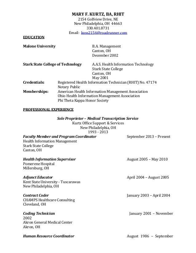 rhit resume