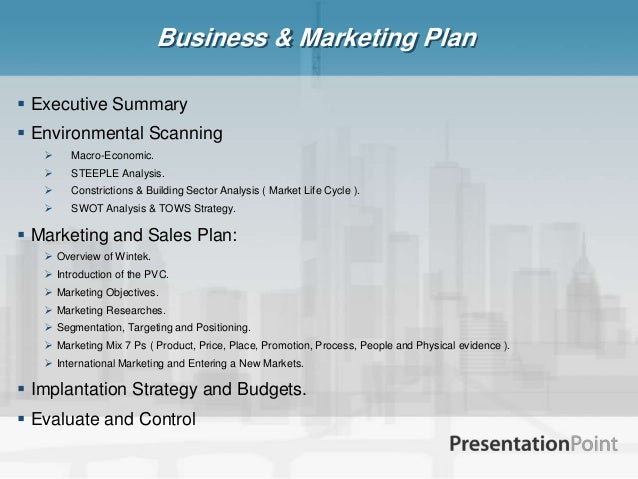 Wintek Marketing Plan Pdf