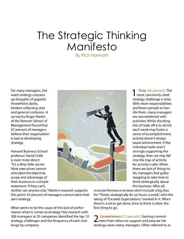 For many managers, the word strategy conjures up thoughts of gigantic PowerPoint decks, binders collecting dust and genera...