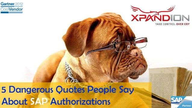 5 Dangerous Quotes People Say About SAP Authorizations