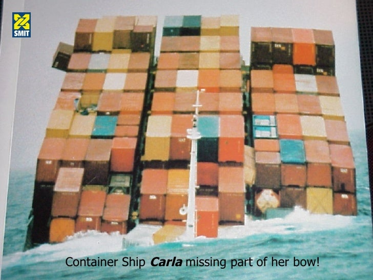 Container Ship  Carla  missing part of her bow!