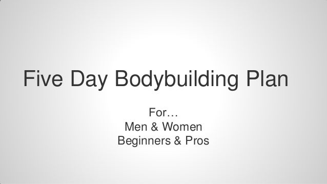 5 day workout plans bodybuilding pdf