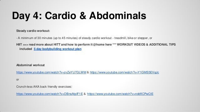 Five Day Bodybuilding Workout Plan
